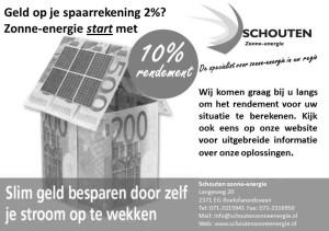 Advertentie duurzaam Leyhof Leiderdorp - Schouten zonne energie - zwart wit